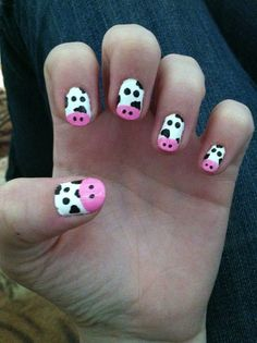 I've had a thing with adorable animal nail art lately!
