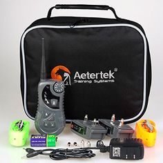 Aetertek AT-218 Submersible Remote 2 Dog Pet Shock Training Collar Trainer With Auto Anti Bark Feature ** Check this awesome product by going to the link at the image.