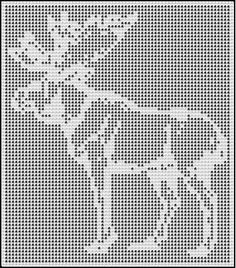 moose filet crochet afghan pattern
