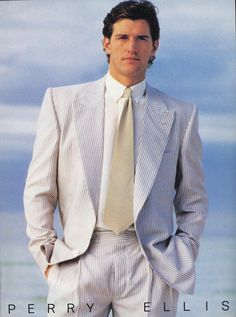 Model matt norklun perry ellis s/s 1985 and fashion, retro fashion 80s And 90s Fashion, Retro Fashion, Vintage Fashion, Mens Fashion, Perry Ellis, 80s Suit, Estilo Retro, Clothing Sites, Designer Wear