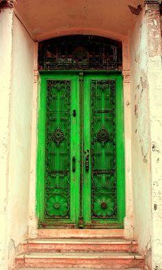 İzmir, Turkey Old Doors, Entry Doors, Sliding Doors, Windows And Doors, Front Entry, Entrance, Plastic Shutters, Painted Doors, Wooden Doors