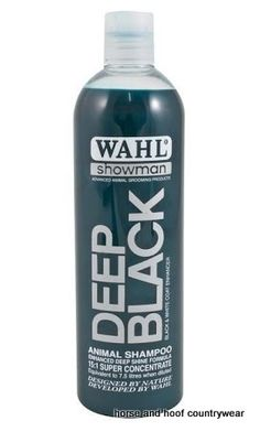 Wahl Deep Black Shampoo Wahl Deep Black Shampoo is based on natural ingredients and contains no harmful detergents or cleansers.