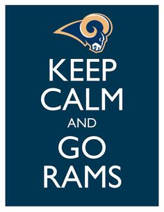 Keep Calm and Go Rams  8x10 Picture  Wall Hanging by HeSewMadeThat, $7.90