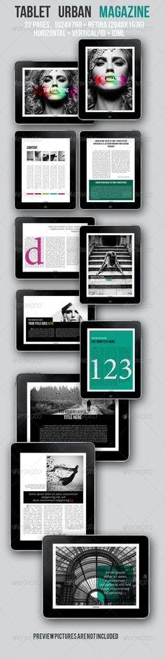 iPad & Tablet Urban Magazine - Digital Magazines ePublishing