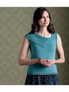 Lace Finery Top Knitting Pattern | Tops, Tanks, and Tees Knitting patterns, many free at http://intheloopknitting.com/tops-tanks-tees-free-knitting-patterns/