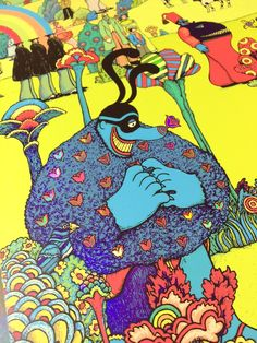 Blue Meanie Beatles Art, The Beatles, Yellow Submarine Art, Blue Meanie, Drawn Art, Arts And Entertainment, Cultura Pop, Psychedelic Art, Wall Collage