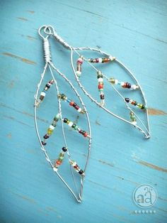 Wire and beaded  leaves - so sweet