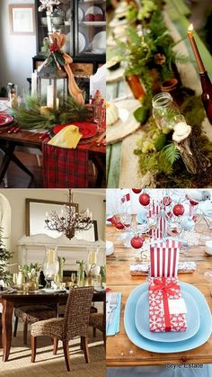 2013 #Christmas Table Roundup Part 1 - Christmas Decorating -