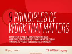 9 principles of work that matters #slideshare about Coke branding via @Ogilvy