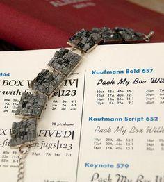 Vintage Letterpress Type Bracelet by Headcase Press on Scoutmob Shoppe