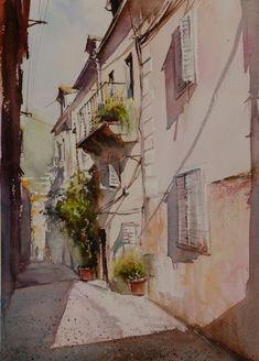 Aquarelles urbaines - Aquarelle Marichalar Watercolor