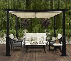 Great if you don't have a patio cover.  Add living space to your backyard.