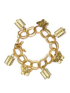 Blueberry Gold-Toned Bracelet for Rs. 349 bought from #myntra.com