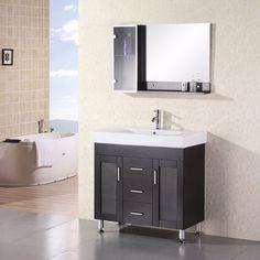 "Design Element 36"" Milan Single Sink Vanity Set - DEC021"