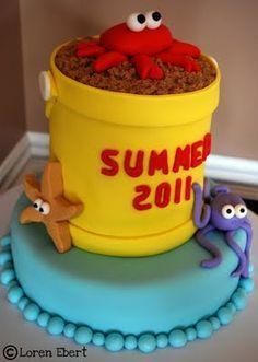 3d beach cake - Google Search