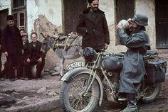 World War II in Color: German Motorcycle