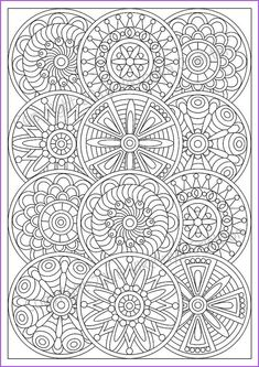 Mandala coloring page for adult, pdf, doodle (zentangle) art pattern Abstract Coloring Pages, Pattern Coloring Pages, Printable Adult Coloring Pages, Flower Coloring Pages, Mandala Coloring Pages, Coloring Book Pages, Coloring Sheets, Printable Art, Mandala Printable