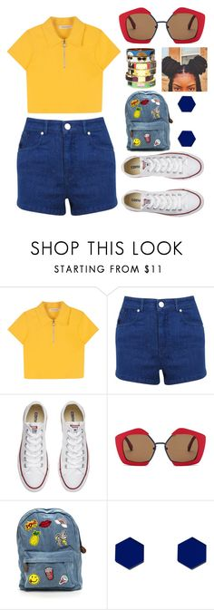 """""""☆"""" by kingbougie ❤ liked on Polyvore featuring Miss Selfridge, Converse, Marni, Wolf & Moon and Bijoux de Famille"""