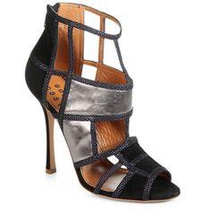 Edmundo Castillo Marawillia Geometric Cutout Suede Sandals ($995) found on Polyvore