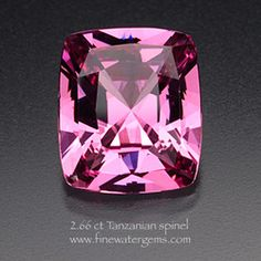 2.66 ct Tanzanian spinel.  Lovely shade. I would drop it in one of Seattle Findings pendants!