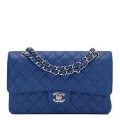 The Chanel Classic Flap Dark Quilted Caviar Medium Classic Double Blue Leather Shoulder Bag is a top 10 member favorite on Tradesy. Chanel Wallet, Chanel Purse, Chanel Bags, Coco Chanel, Burberry Handbags, Chanel Handbags, Designer Handbags, Women's Handbags, Chanel Shoulder Bag