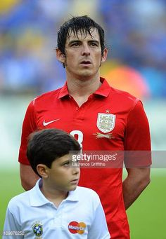 Leighton Baines of England lines up for the national anthem during the International Friendly match between England and Brazil at Maracana on June Leighton Baines, England Players, England Football, Football Photos, National Anthem, Everton, Brazil, June