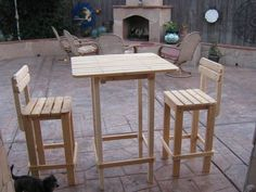 wood tall patio table - Google Search