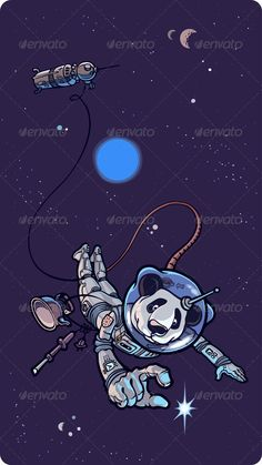 Panda the Astronaut  #GraphicRiver         Panda the astronaut is happy to find the small shining star in outer space.  	 The archive includes: editable vector EPS v9.0 and the hi-res JPG file.  	 Your vote is appreciated. Enjoy!     Created: 19July12 GraphicsFilesIncluded: JPGImage #VectorEPS Layered: Yes MinimumAdobeCSVersion: CS Tags: achievement #adventure #astronaut #bear #cartoon #cosmonaut #discovery #exploration #find #flying #fun #happy #helmet #illustration #joy #kettle #moon…