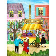 """Fall in love in Paris"" ❤️ #ideas #illustrator #Paris #Travel #love #romantic #city #Scotland #Edinburgh #effeltower #storyteller #illustration #florist #Scottish #journey #travelalone #uk #destination #France #colourful"
