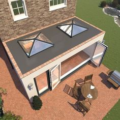 Building upon the market-leading success of the Skypod range of skylights, Eurocell has announced its latest model – the SkypodSQ. House Extension Plans, House Extension Design, Glass Roof Extension, Rear Extension, Extension Ideas, House Design, Bungalow Extensions, Garden Room Extensions, House Extensions