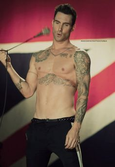 Adam Levine from Maroon 5.