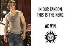 WIN WIN WIN. Sam Winchester. <3