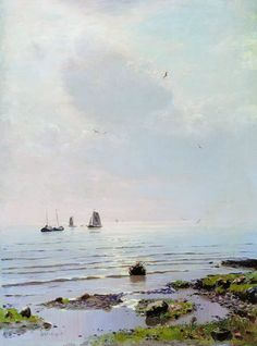 Nikolay Nikanorovich Dubovskoy (1859-1918) - Lake Ladoga.