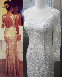 Mermaid Prom Dresses, One Sleeve Prom Dress, White Evening Dresses, Mermaid Party Dresses, Sequined Formal Dresses