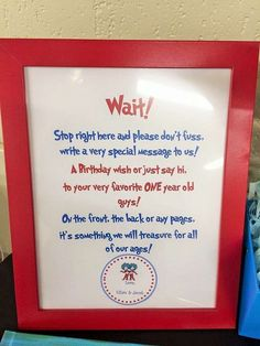 Dr Seuss Thing 1 Thing 2 - Twin Boys First Birthday Party | CatchMyParty.com