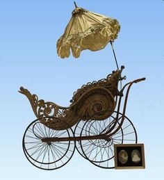 Lot: 1890 Victorian Wicker Baby Carriage &Photo, Lot Number: 0076, Starting Bid: $300, Auctioneer: Stony Ridge Auction, Auction: 19th Anniversary - Quality Antiques 11:00 EST, Date: January 12th, 2014 EST