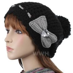 Bow Decor Beanie Hat  - this website has all kinds of cute winter hats....cheap