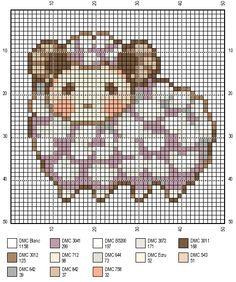 cross stitch pattern sheep