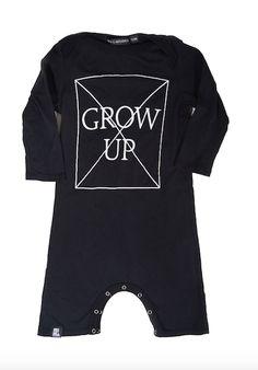 Mini & Maximus Don't Grow Up Romper in Black