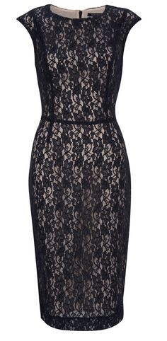 Lace pencil dress. Someday I'll have a reason to wear this dress!