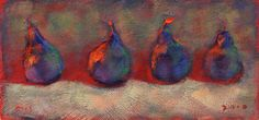 Fauvist pears texture and light.