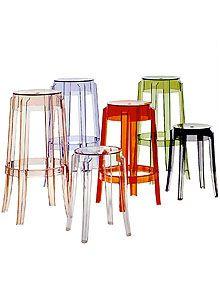 Kartell Charles Ghost Modern Bar Stool  Designer: Philippe Starck  Manufacturer: Kartell