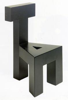 Armando Testa, Sedia AT, 1990 1990, Italian Art, Pixel Art, Minimal, Architecture, Wood, Photography, Furniture, Design