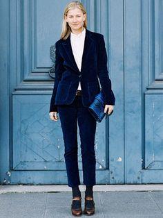 Try a velvet suit.