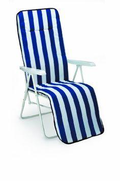 Relaxsessel garten weiß  Kippbarer Garten Relaxsessel-Liegestuhl aus Metall und Textilen ...