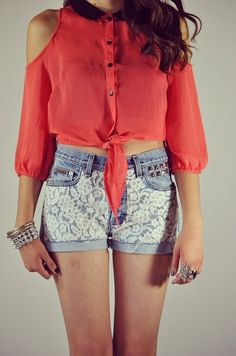 Lace on Lace Shorts