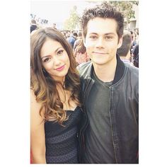 Bethany Mota and Dylan O'Brien at the #MTVMovieAwards