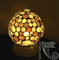 Mosaic Bowling Ball, Table Lamp, Ornaments, Create, Home Decor, Turkish Lamps, Glass Ornaments, Tiles, Fire