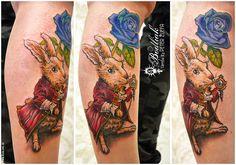 Peter Žuffa 2016 #art #tat #tattoo #tattoos #tetovanie #original #tattooart #slovakia #zilina #bodliak #bodliaktattoo #bodliak_tattoo #rabbit_tattoo #alice_in_wonderland_tattoo