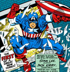 """Captain America by Jack """"King"""" Kirby!"""